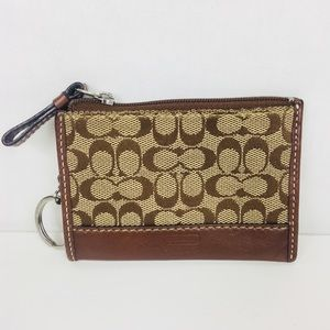 Coach | Classic Canvas and Leather Wallet Keychain